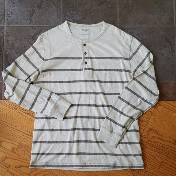 Old Navy Other - Old Navy Henley Large Cream Striped